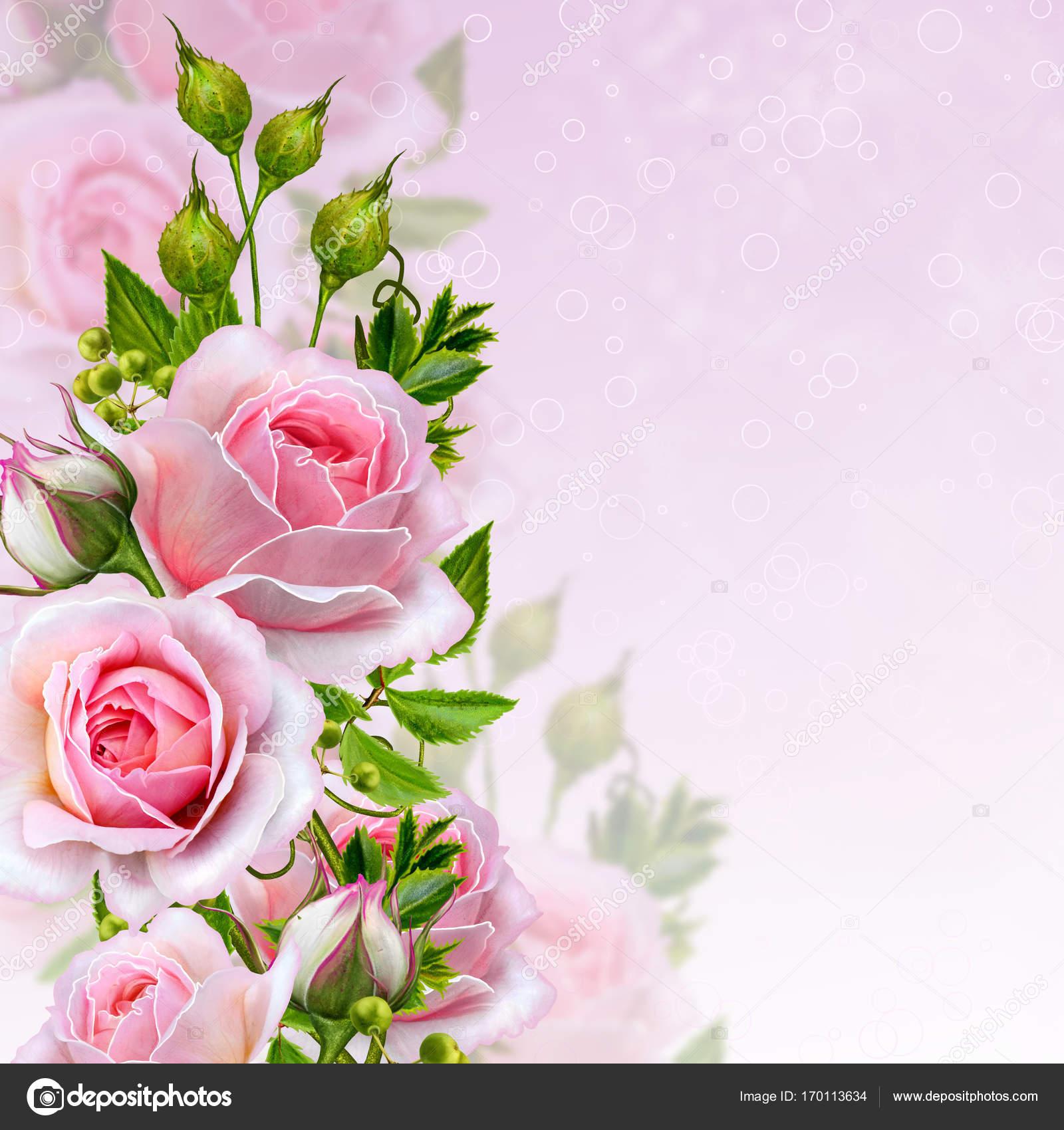 Открытка с благодарностью цветы и ягоды в букете 29