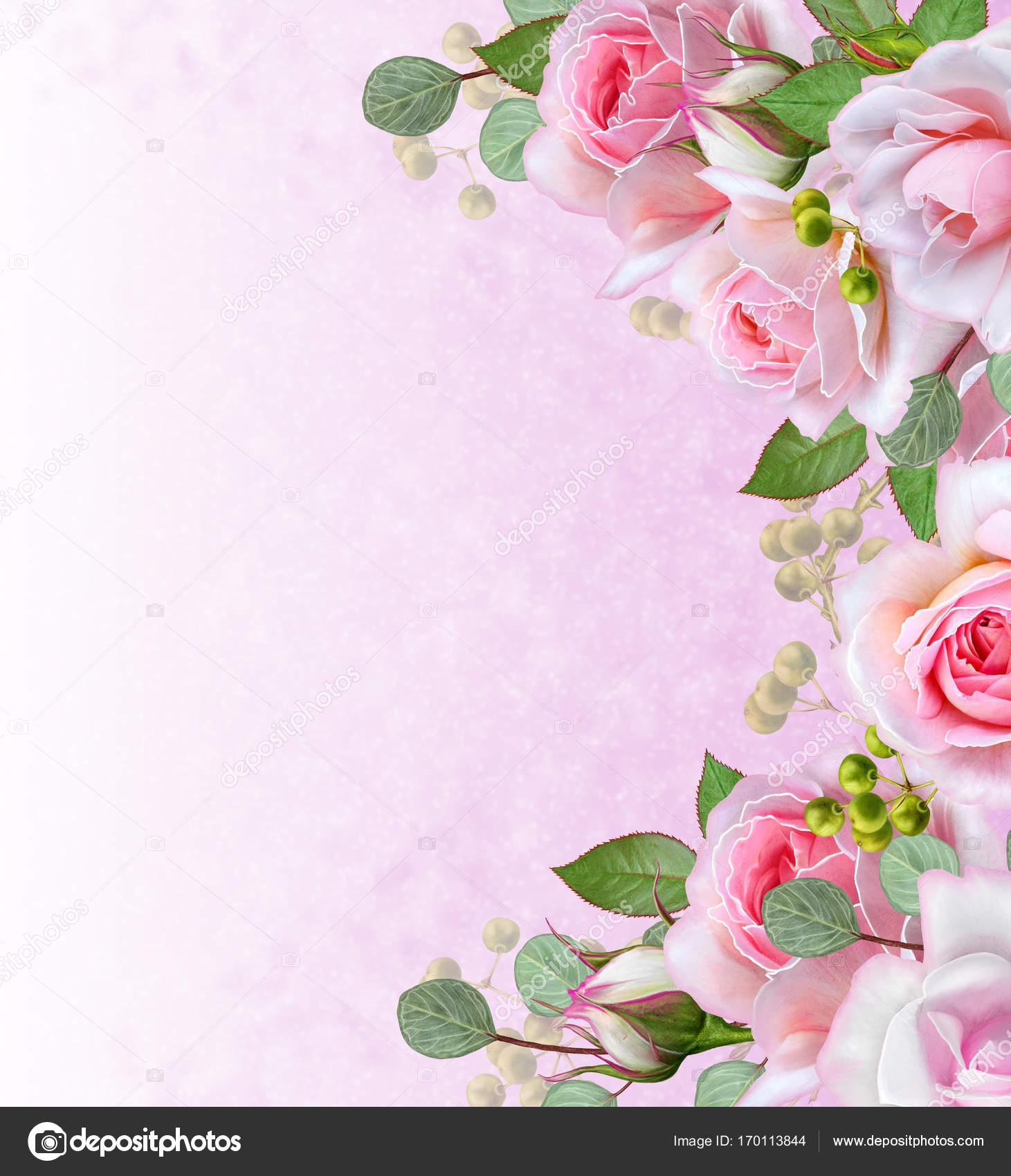 Открытка с благодарностью цветы и ягоды в букете 37