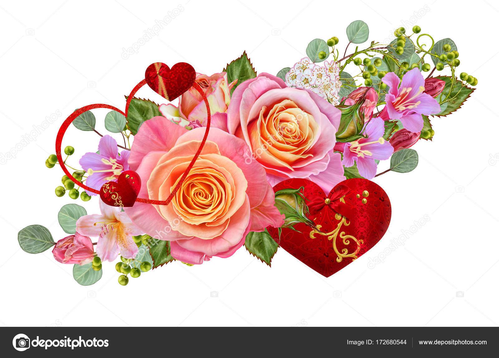 Открытка с благодарностью цветы и ягоды в букете 72