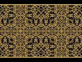 Fotografie Nahtloses Muster. Goldene strukturierte Locken. Orientalische Stil Arabesken. Brillante Spitze, stilisierte Blumen. Offenes Weben zarte, goldene Hintergrund.
