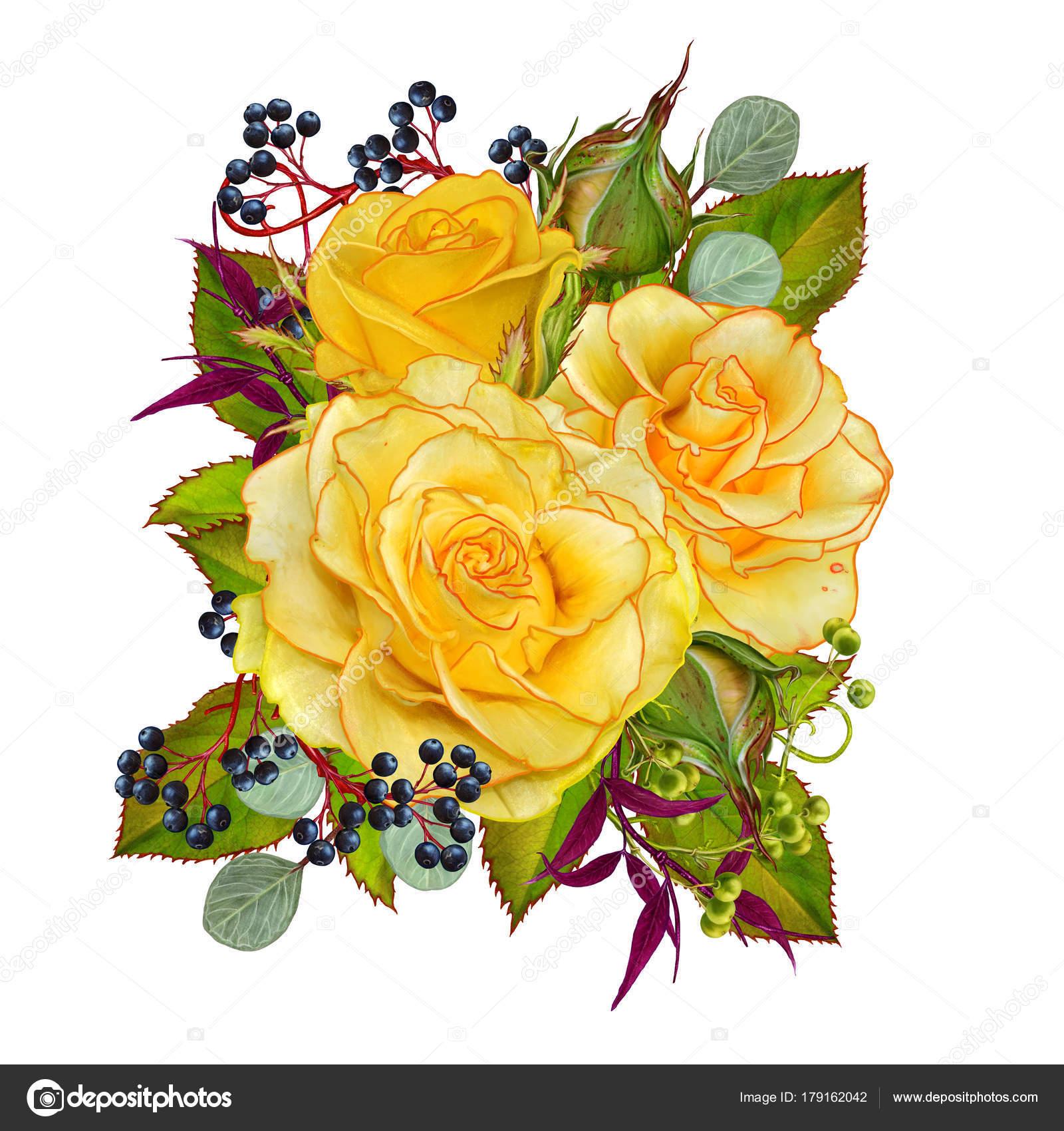 Открытка с благодарностью цветы и ягоды в букете 56