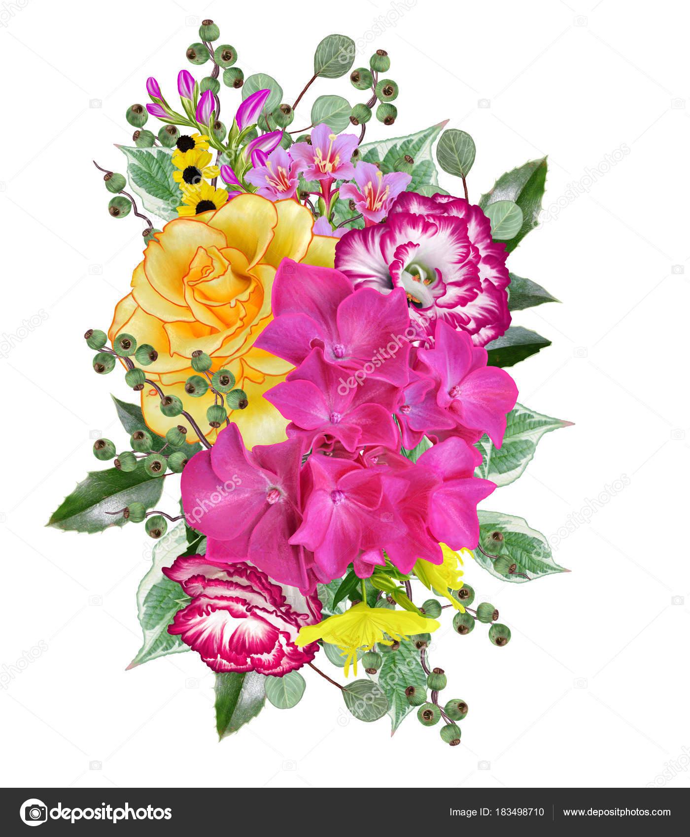 Открытка с благодарностью цветы и ягоды в букете 64