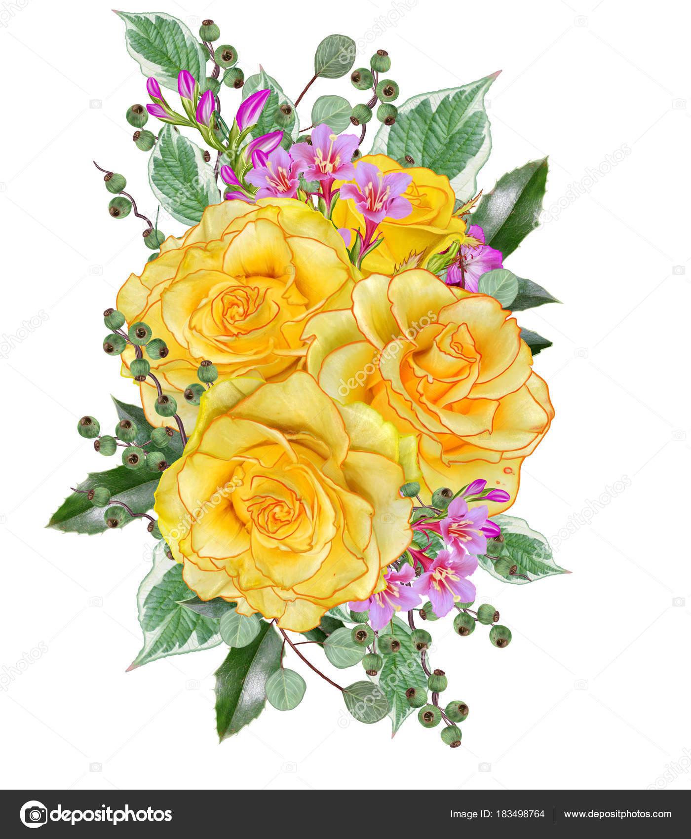Открытка с благодарностью цветы и ягоды в букете 40