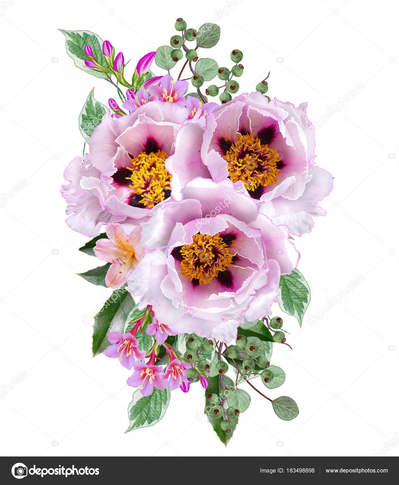 Открытка с благодарностью цветы и ягоды в букете 21