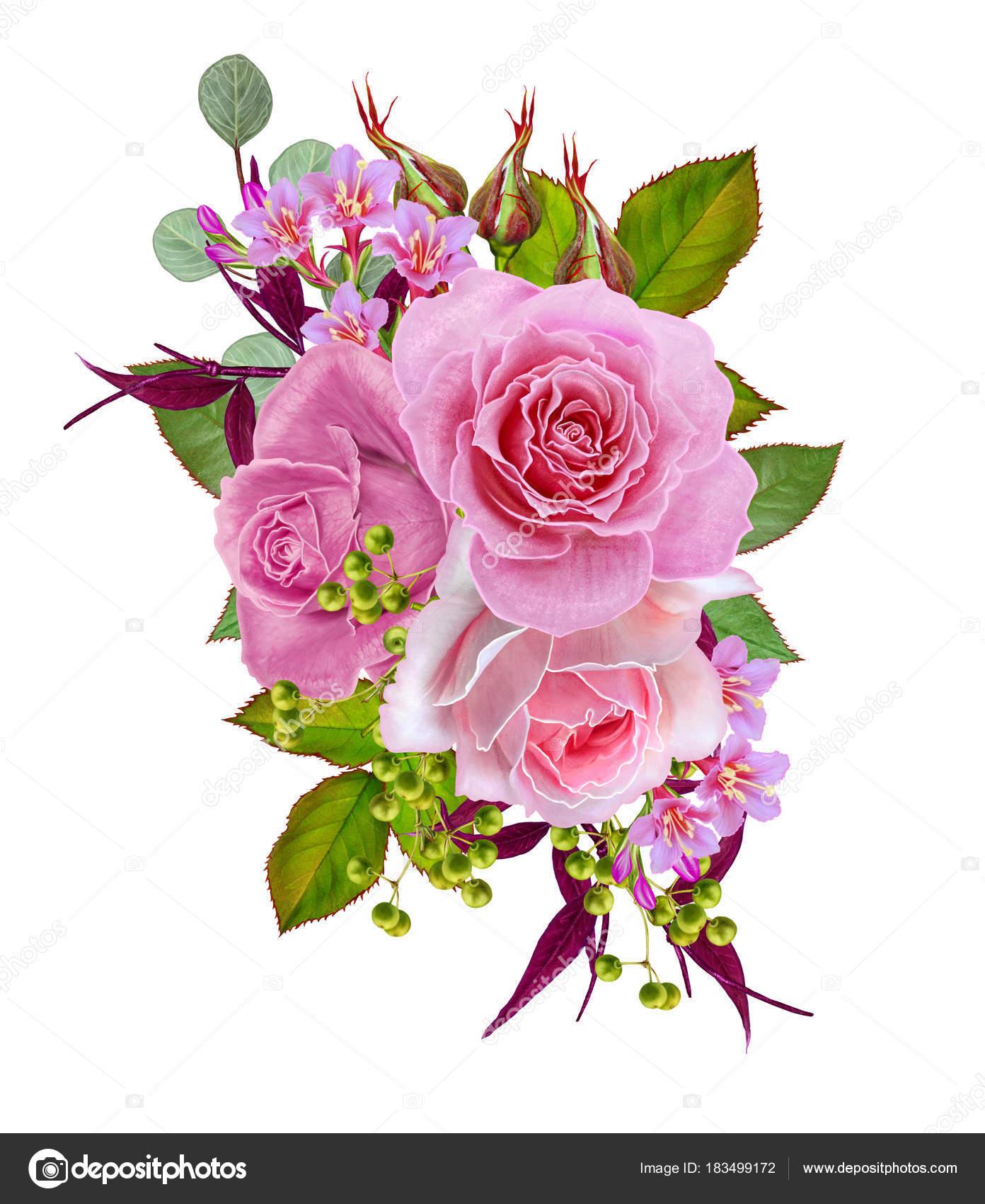 Открытка с благодарностью цветы и ягоды в букете 71
