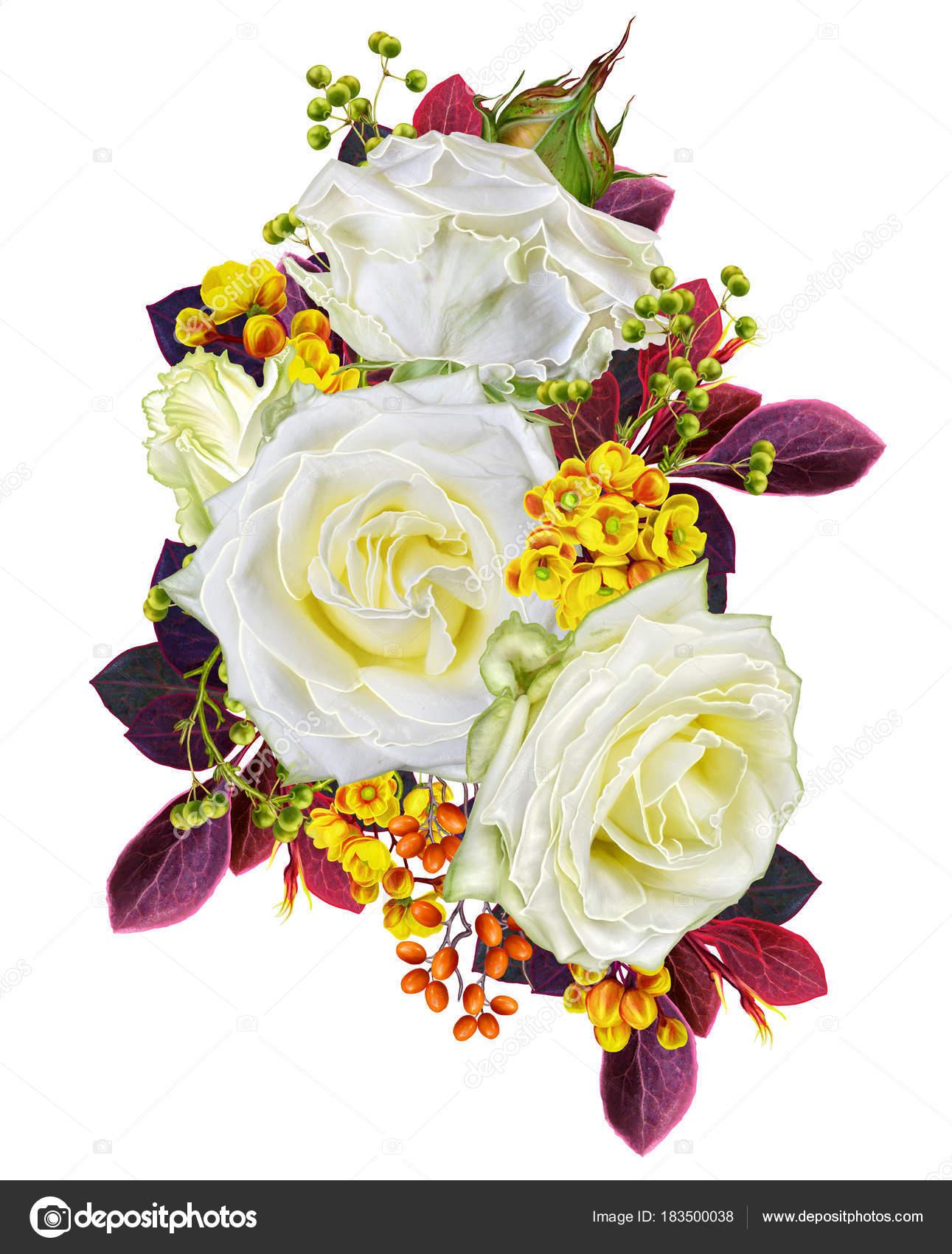 Открытка с благодарностью цветы и ягоды в букете 52