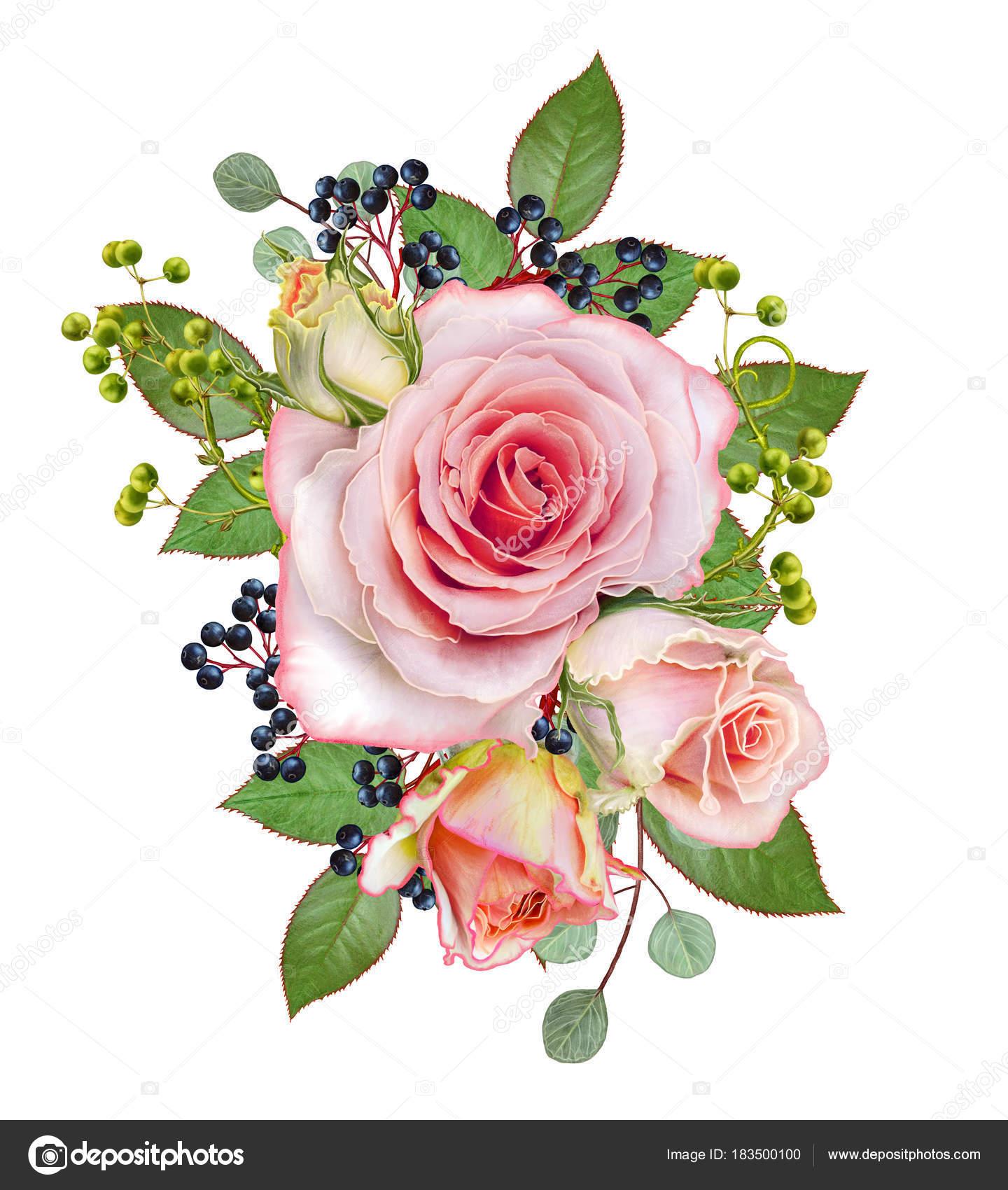 Открытка с благодарностью цветы и ягоды в букете 26