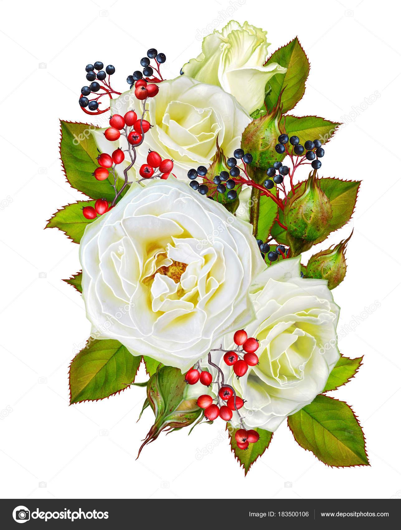 Открытка с благодарностью цветы и ягоды в букете