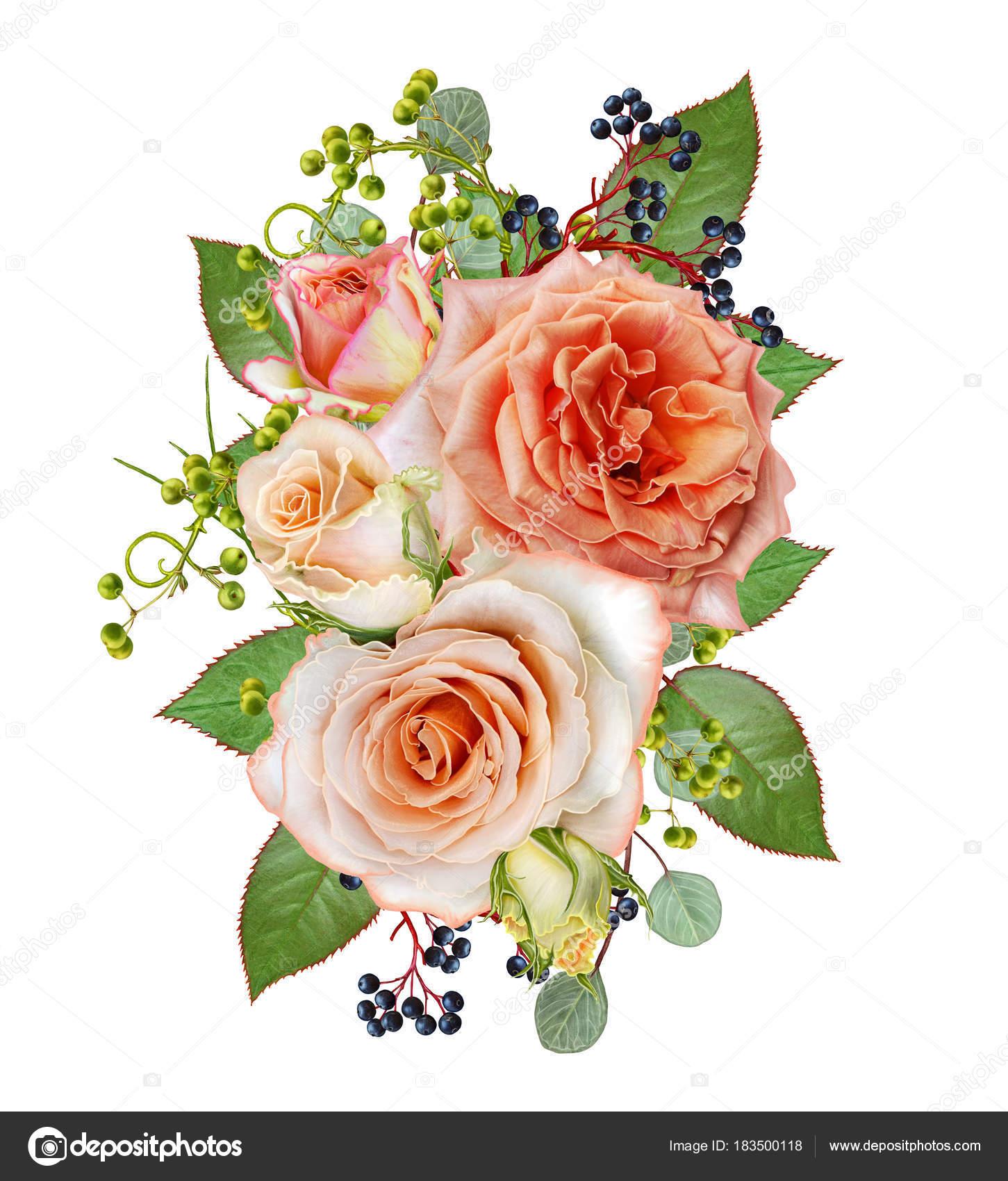 Открытка с благодарностью цветы и ягоды в букете 98