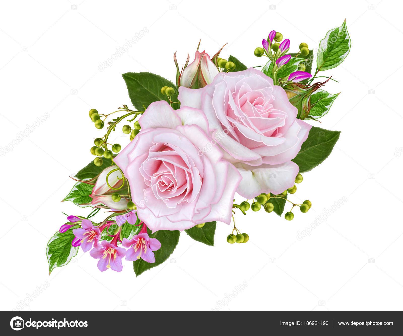 Открытка с благодарностью цветы и ягоды в букете 9