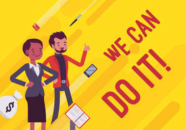 We can do it. Business motivation poster