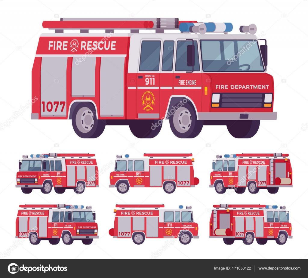 Itfaiye Arabası Seti Stok Vektör Andrewrybalko 171050122