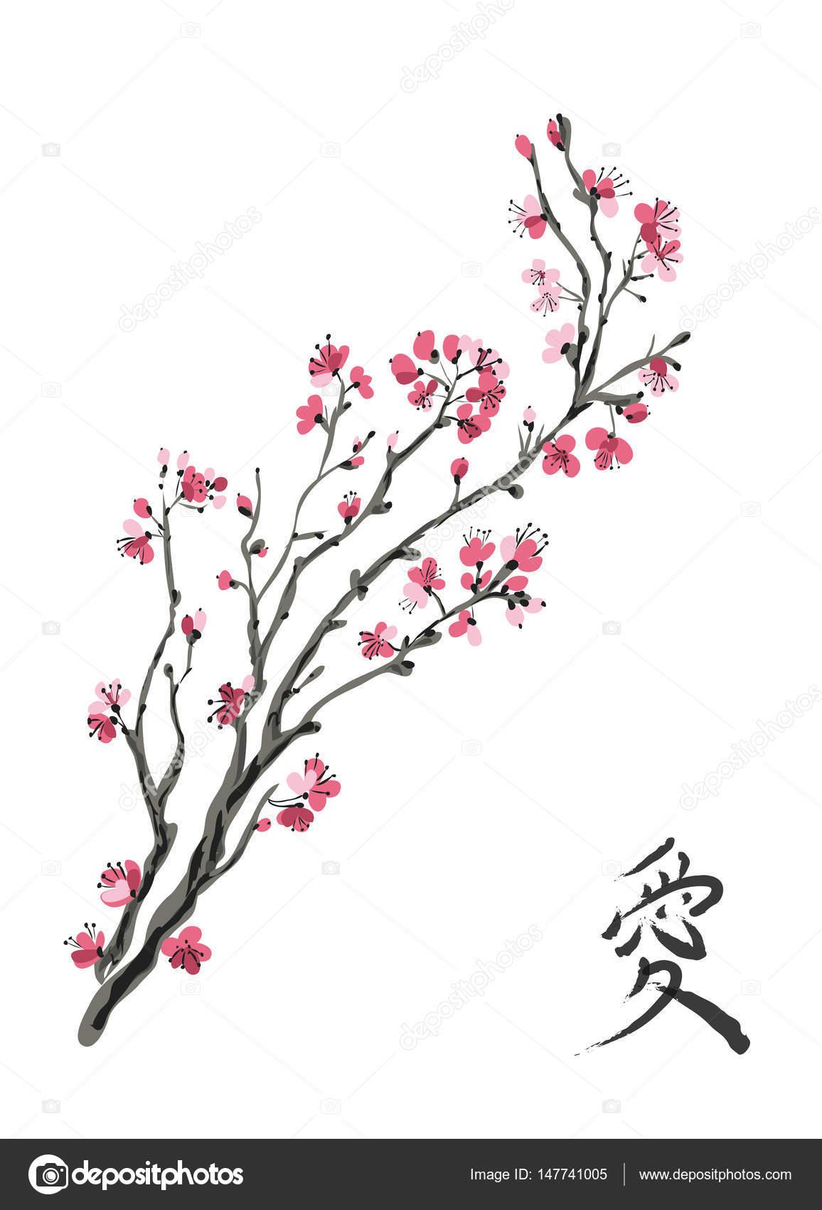 Arbol De Cerezo Japones realistic sakura blossom - japanese cherry tree isolated on