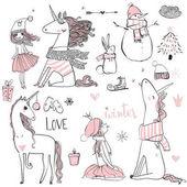 Fényképek Doodle Egyszarvú hercegnő