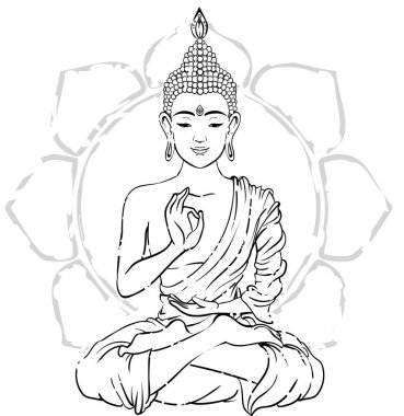 card with Buddha