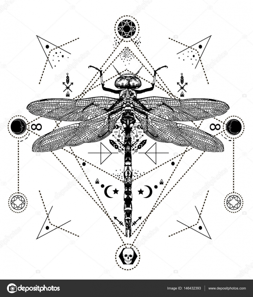 Dragonfly black and white tattoo stock vector cofeee 146432393 dragonfly black and white tattoo stock vector pooptronica Image collections