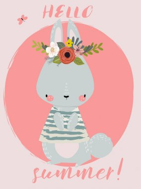 Summer Cute Hare