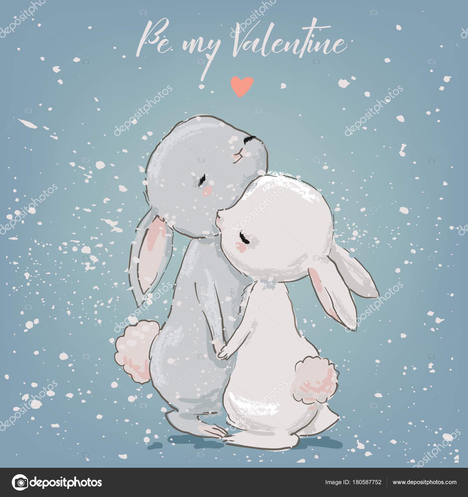 かわいいウサギのカップル ストックベクター Cofeee 180587752