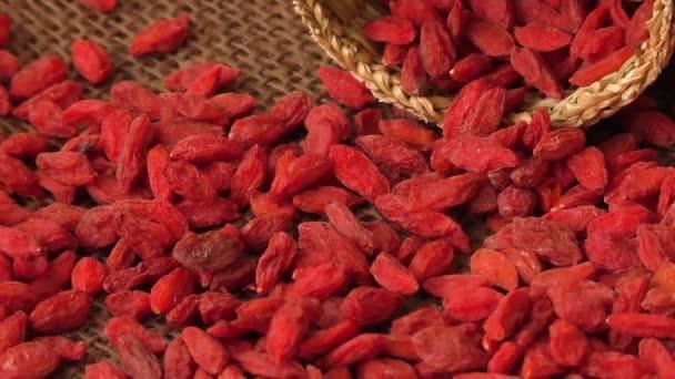 Red dried goji berries ( Lycium Barbarum, wolfberry )
