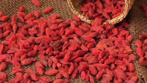 Red dried goji berries ( Lycium Barbarum, wolfberry )