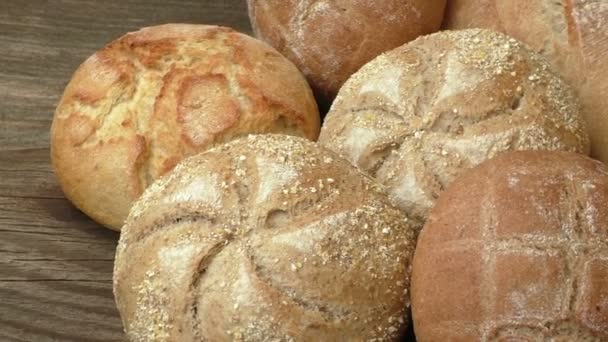 Bread buns. Stack of freshly baked homemade bread buns