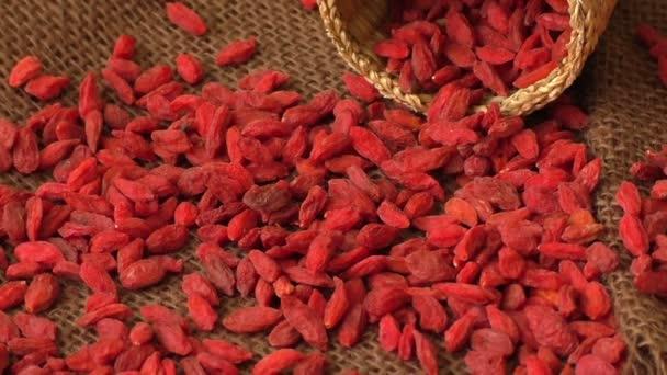 getrocknete Goji-Beeren. Lycium chinense