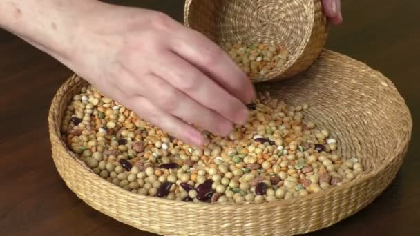 Various seeds in the basket