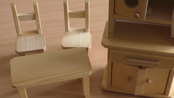 Miniature Wooden Toy Furniture For Children Wooden Doll Furniture