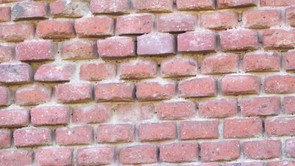 Staré cihlové zdi. Zničené cihlová zeď