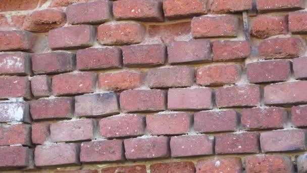 Staré cihlové zdi. Zničené cihlová zeď. Stará červená cihlová zeď