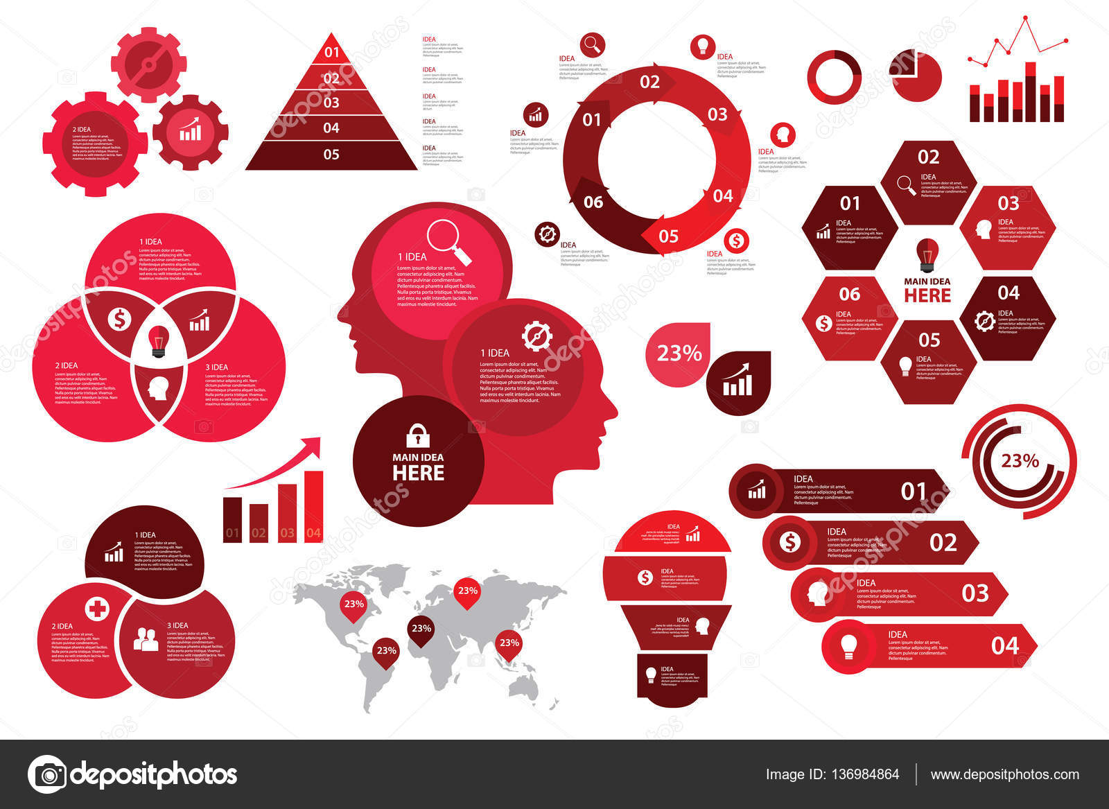 Infographic set red color scheme business graph arrow elements infographic set red color scheme business graph arrow elements chart visualization stock vector nvjuhfo Image collections