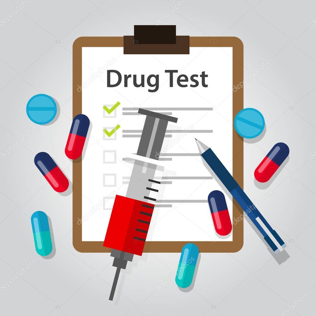 Medikament Medizinische Unterlagen Bericht Illegale Drogen