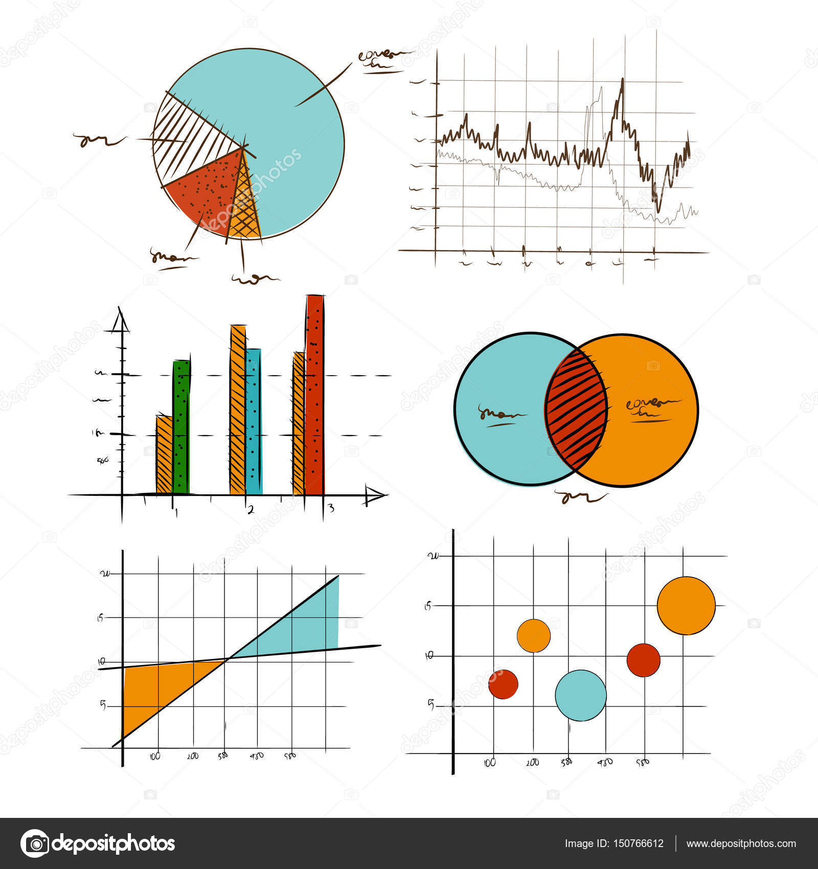 Hand drawing chart graphic collection set for business and hand drawing chart graphic collection set for business and statistics education such as venn diagram pooptronica Image collections