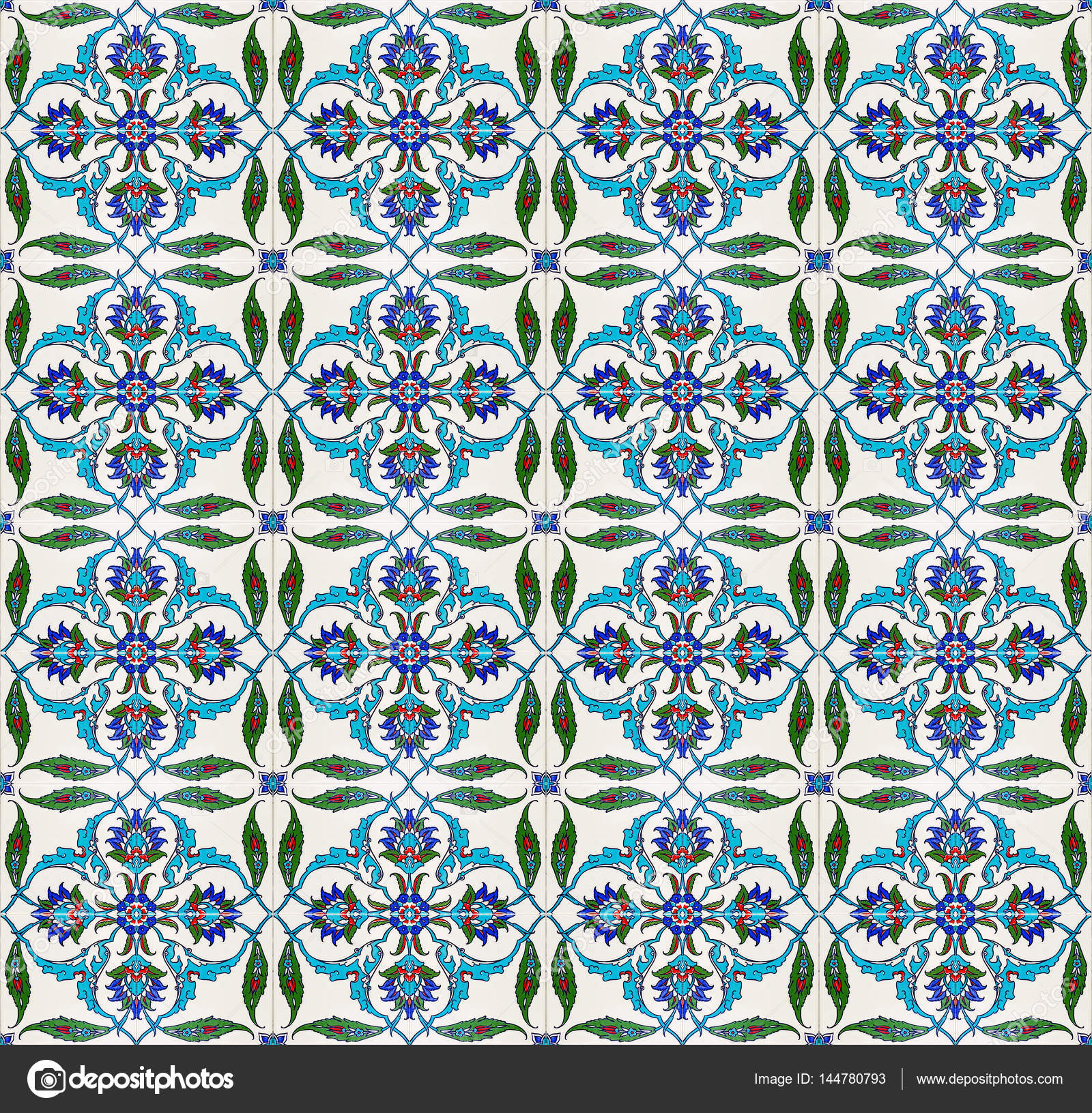 Mosaic tile pattern (islamic motif) — Stock Photo © aosmanpek@gmail ...