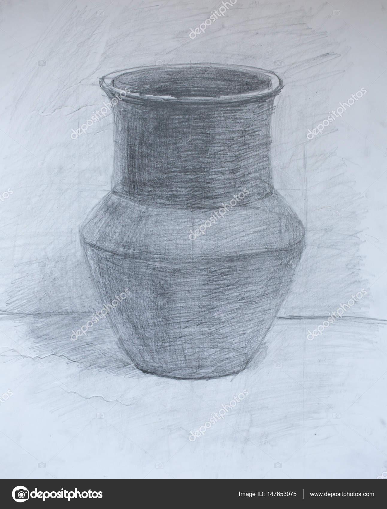 Karakalem vazo çizimleri