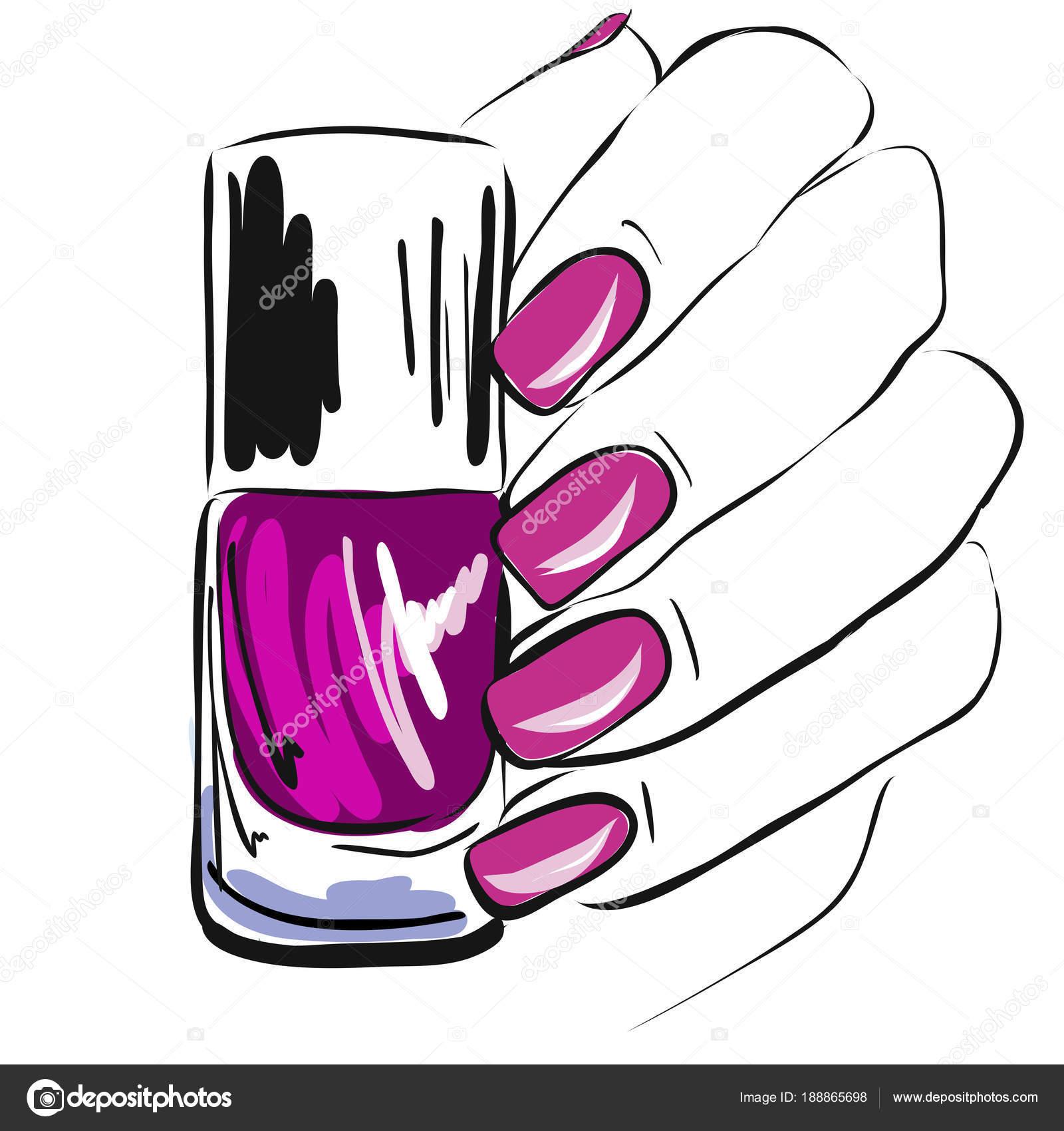 Esmalte Uñas Mano Uñas Bien Cuidadas Rosado Esmalte Uñas Manicura ...