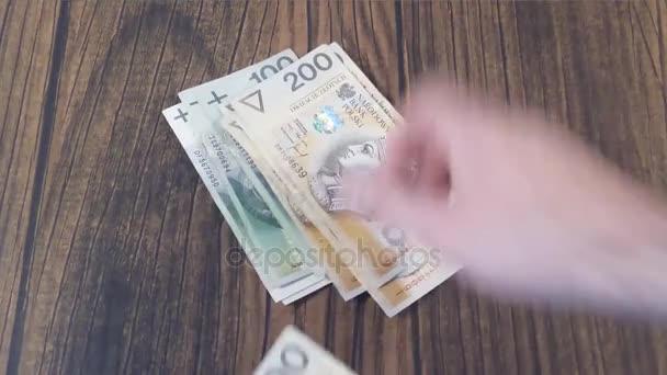 Počítání peněz. Polský Pln zlotý