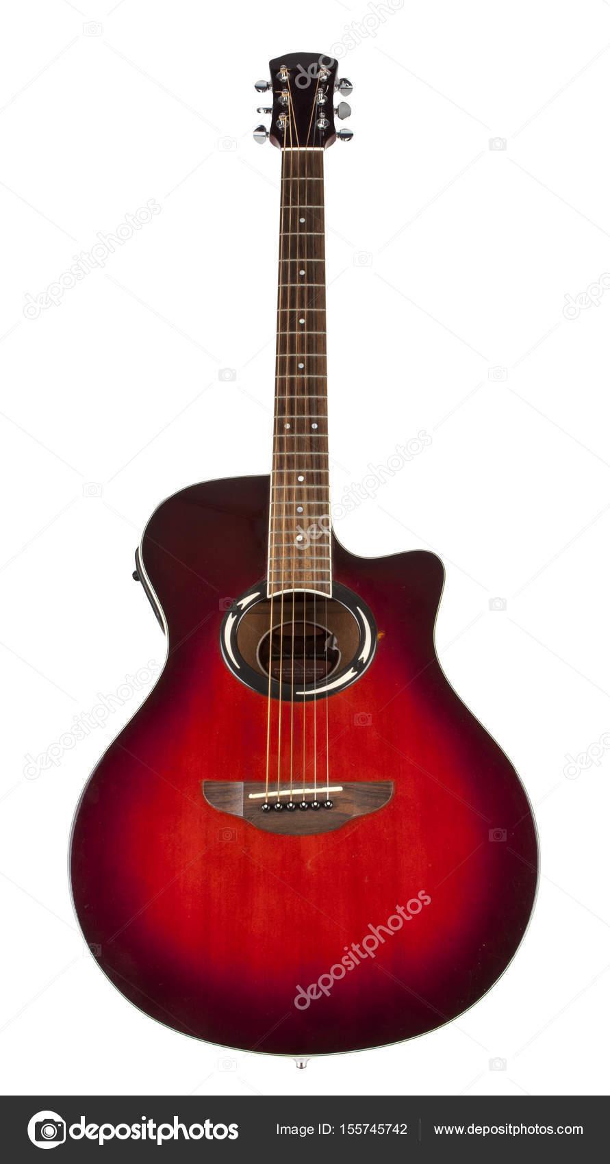 Acoustic Guitar On White Background Stock Photo C Radoslaw