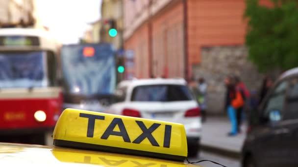 Žluté taxi symbol closeup