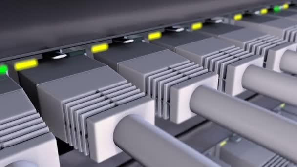 Konektory Rj45 připojena k síti přepínače smyčka