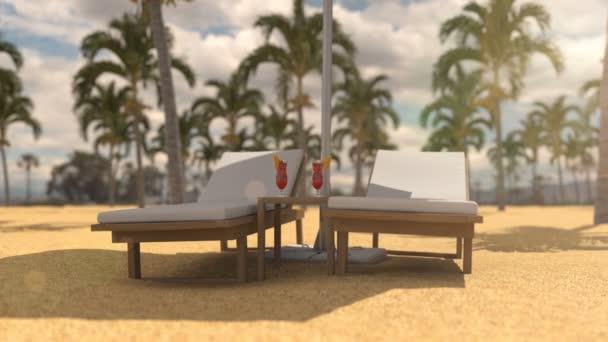Nyaralás a forró strandon a strand ernyője alatt