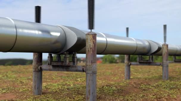 Inspektion einer Ölpipeline und einer Erdgasleitung