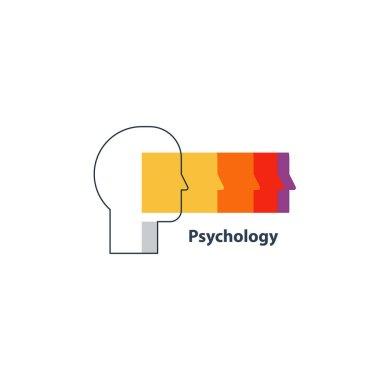 Emotional intelligence concept, psychology logo