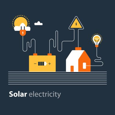 Electricity connection, solar electrical supply, energy saving