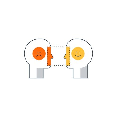 Emotional intelligence concept, psychology communication, mind science, reasonin