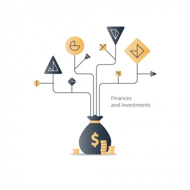 Business plan, start up investment, finance education tree, budget management