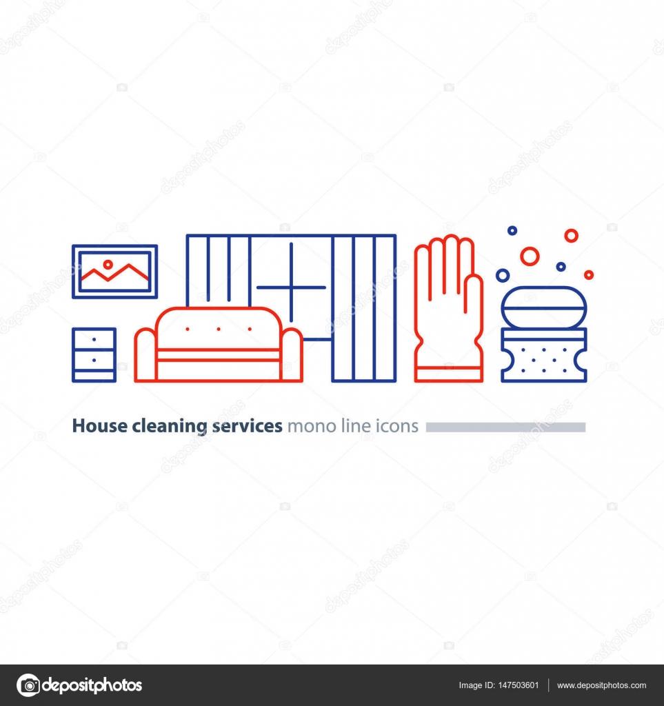 Ménager services coquette salle de séjour avec canapé et fenêtre corvées de lappartement maintenir propre intérieur ménage et entretien ménager