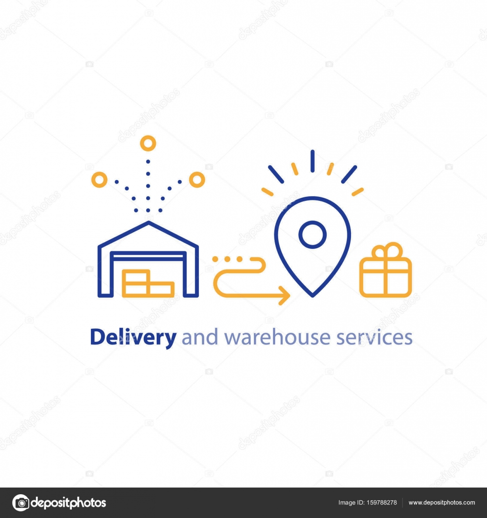 Delivery Chain Icon Order Shipping Distribution Warehouse Services
