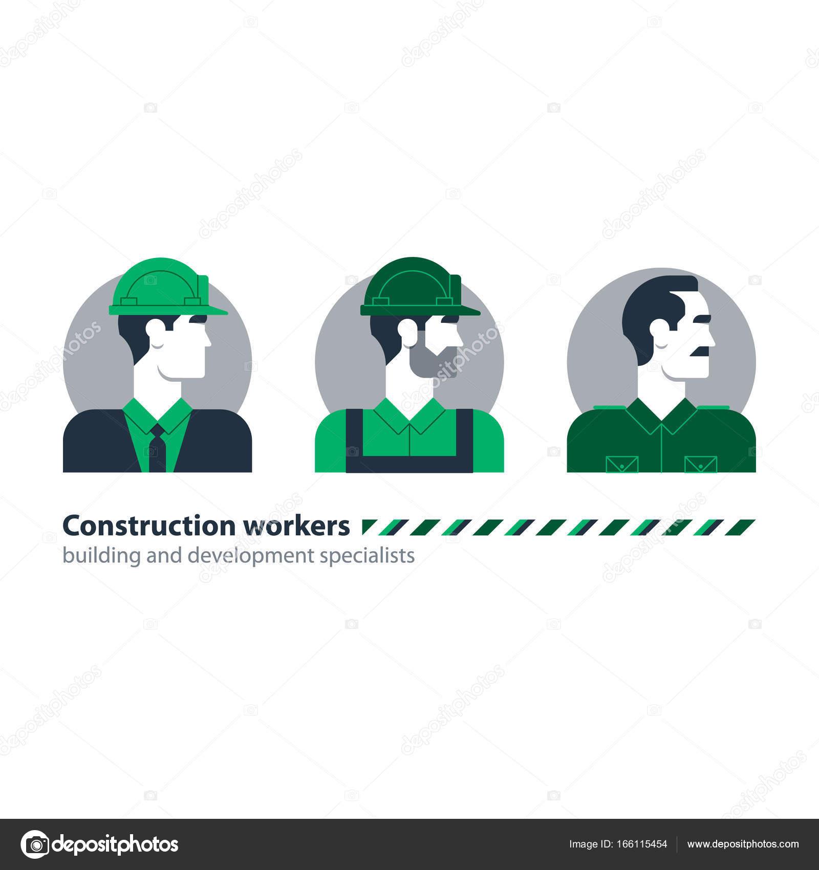 Builder homme côté vue construction travailleur la main-d'œuvre