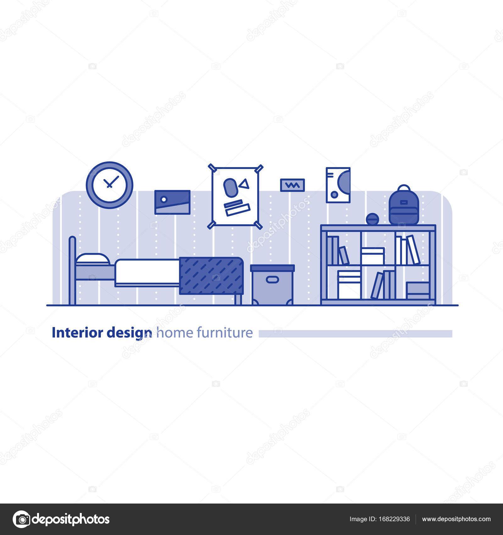 Disposizione dei mobili in soggiorno, concetto di semplicità ...
